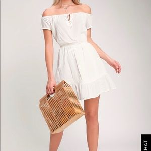Amuse society off the shoulder white dress